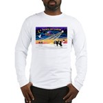 XmasSunrise/2 Cavaliers (t) Long Sleeve T-Shirt