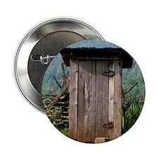 """Mountain Outhouse 2.25"""" Button"""