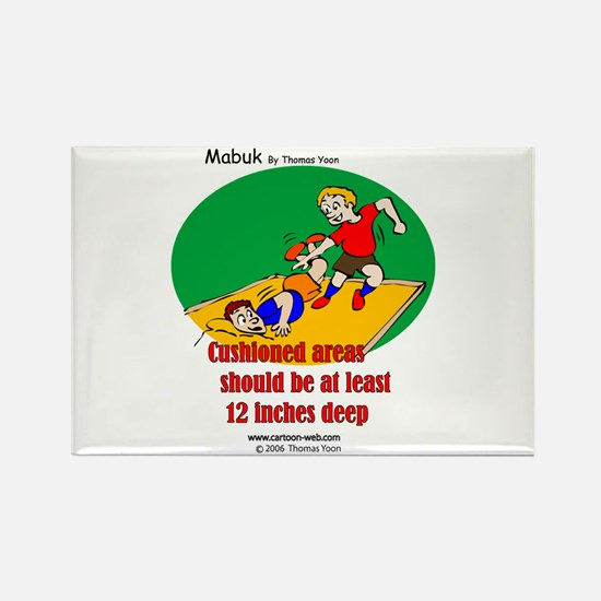 Playground Safety Rectangle Magnet