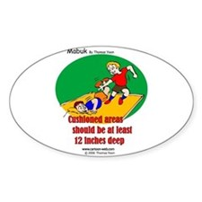 Playground Safety Oval Decal