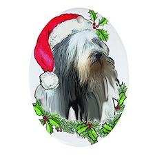 Santa Beardie Oval Ornament
