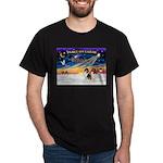 XmasSunrise/2 Collies Dark T-Shirt
