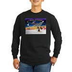 XmasSunrise/2 Collies Long Sleeve Dark T-Shirt