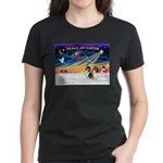XmasSunrise/2 Collies Women's Dark T-Shirt