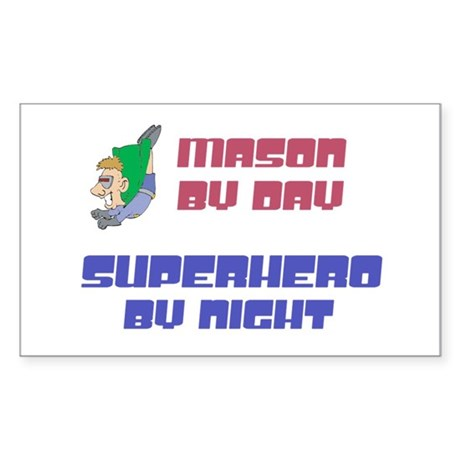 Mason - Super Hero by Night Rectangle Sticker