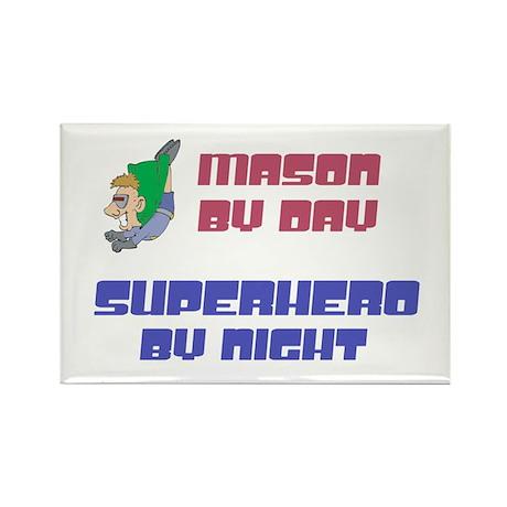 Mason - Super Hero by Night Rectangle Magnet