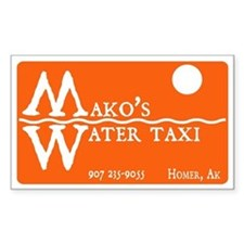 Mako's Water Taxi Decal