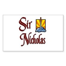 Sir Nicholas Rectangle Decal
