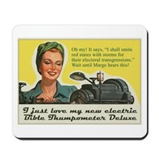 Bible Thumpometer - Hurricane Mousepad