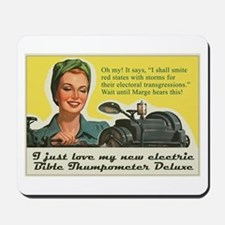 Bible Thumpometer - Hurricane Mousepad