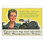 Bible Thumpometer - Hurricane Small Poster