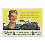 Bible Thumpometer - Hurricane Large Poster
