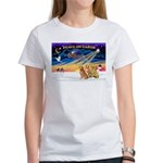 XmasSunrise/3 Goldens Women's T-Shirt
