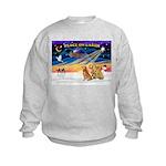 XmasSunrise/3 Goldens Kids Sweatshirt