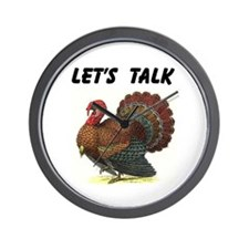 TURKEY TALK Wall Clock