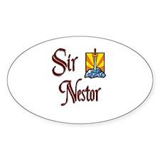 Sir Nestor Oval Decal