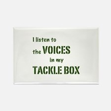 Voices in My Tackle Box Rectangle Magnet