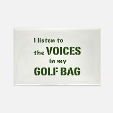 Voices in My Golf Bag Rectangle Magnet (100 pack)