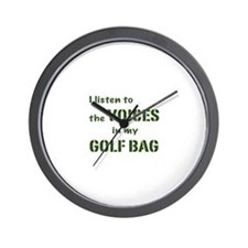 Voices in My Golf Bag Wall Clock
