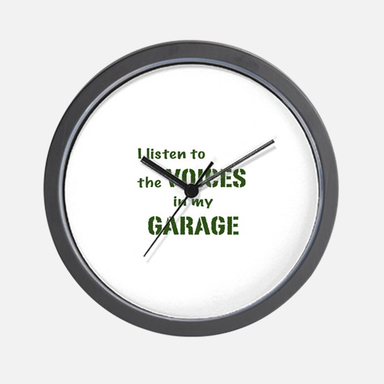 Voices in My Garage Wall Clock