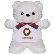 Glædelig Jul Wreath Teddy Bear