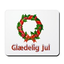 Glædelig Jul Wreath Mousepad
