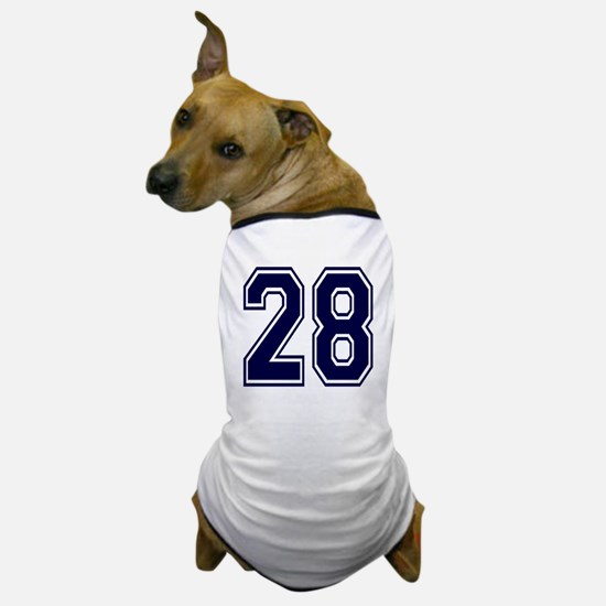 NUMBER 28 FRONT Dog T-Shirt