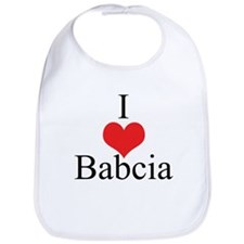 I Love (Heart) Babcia Bib