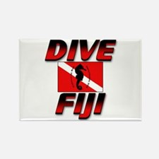 Dive Fiji (red) Rectangle Magnet