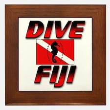 Dive Fiji (red) Framed Tile