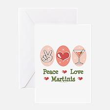 Peace Love Martini Greeting Card