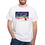 XmasSunrise/Sheltie #7 White T-Shirt