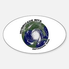 Hurricane Rita Satellite Photo Oval Decal