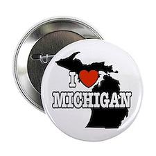 I Love Michigan Button