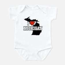 I Love Michigan Infant Creeper