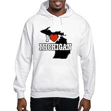 I Love Michigan Hoodie