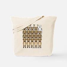Samoyed and Reindeer Tote Bag