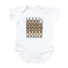 Samoyed and Reindeer Infant Bodysuit