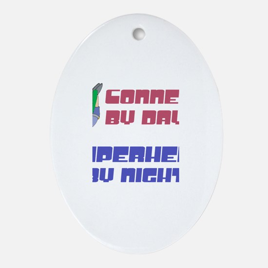 Conner - Super Hero by Night Oval Ornament