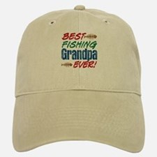 Best Fishing Grandpa Ever! Baseball Baseball Cap