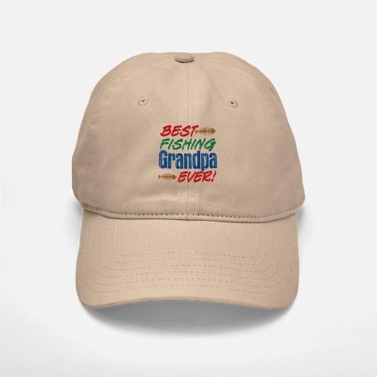 Best Fishing Grandpa Ever! Baseball Baseball Cap
