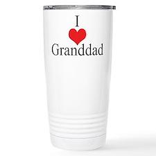 I Love (Heart) Granddad Travel Mug