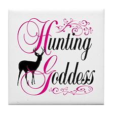 Hunting Goddess Tile Coaster