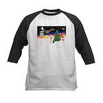 XmasSigns/Old English #3 Kids Baseball Jersey