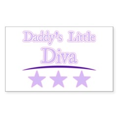 Daddy's Little Diva Rectangle Decal
