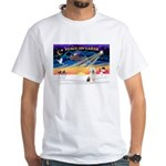 XmasSunrise/OES #3 White T-Shirt