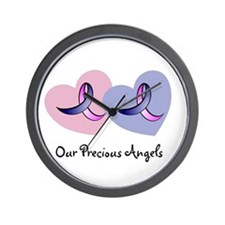 Hearts and Ribbons Wall Clock