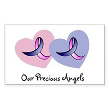 Hearts and Ribbons Rectangle Decal