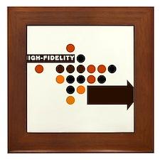 Cute Vinyl records Framed Tile