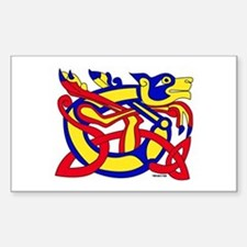 Lion of Kells Rectangle Decal